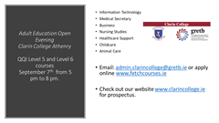 Adult Education Open Evening