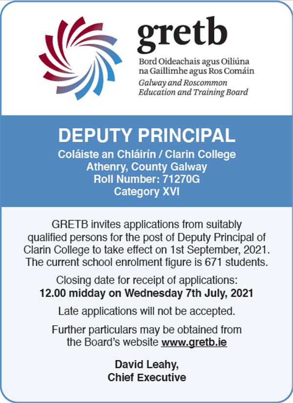 Recruitment of Additional Deputy Principal